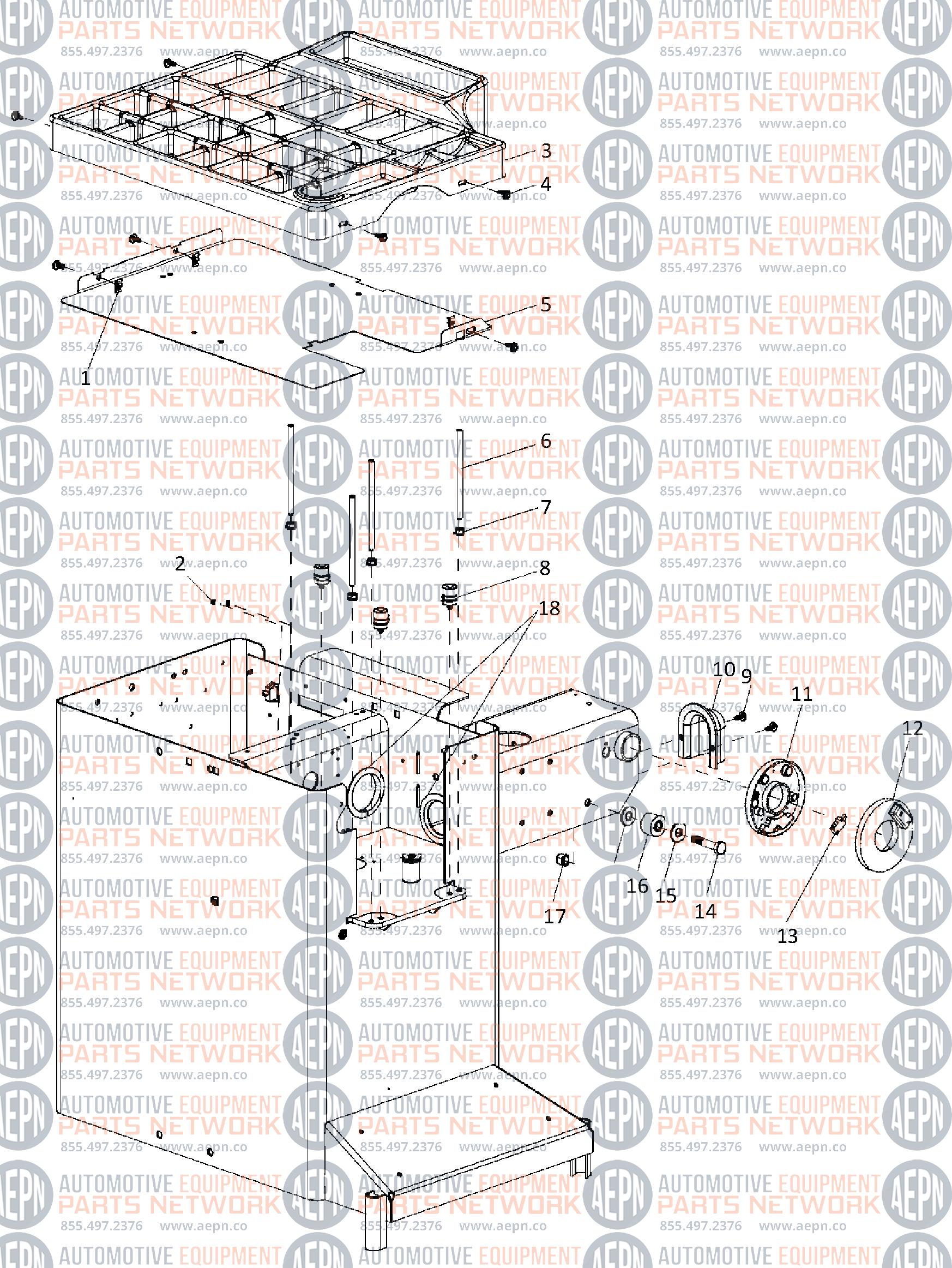 Coats 1250 Series Balancer Parts Breakdown
