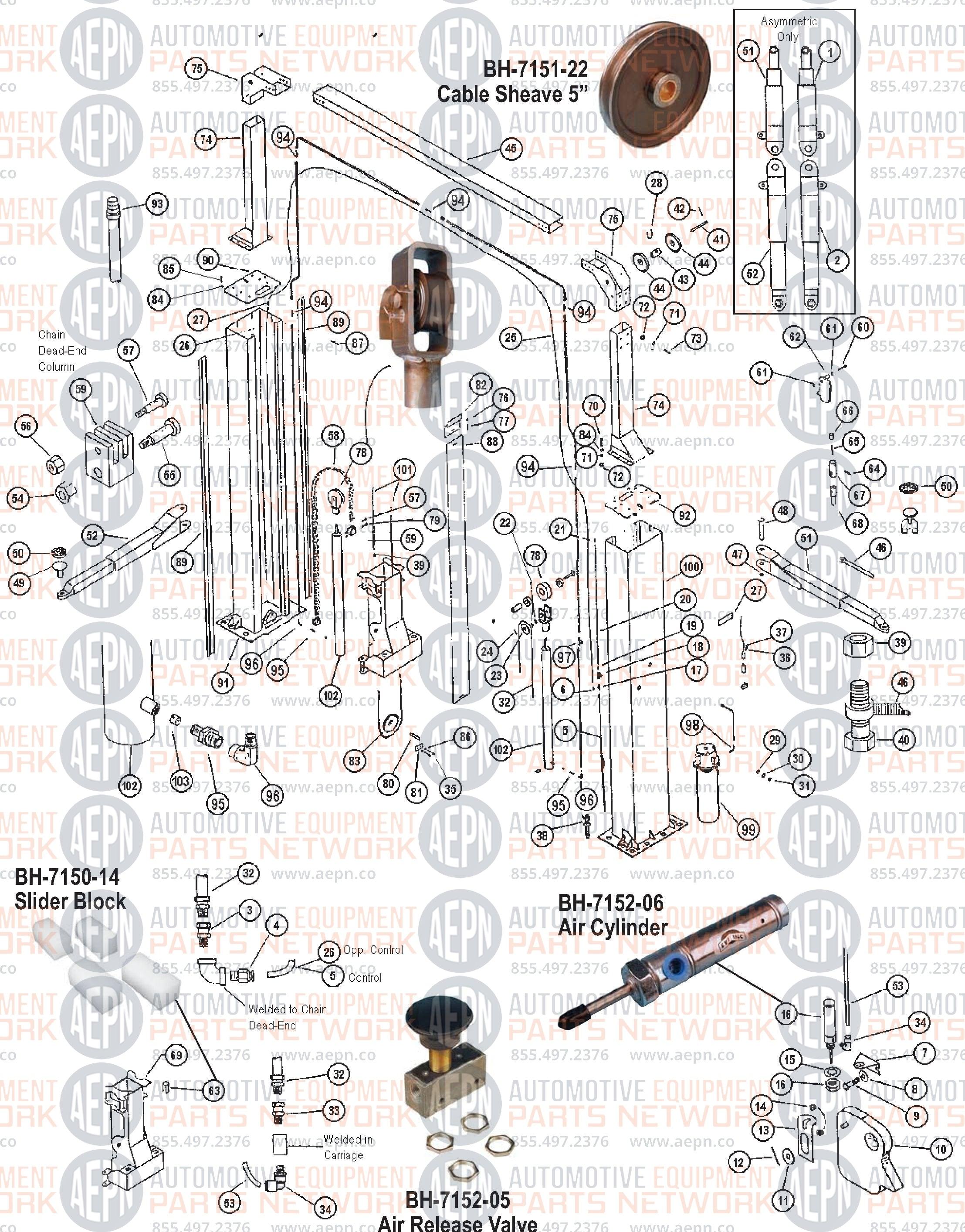 ALM 7001 Parts Breakdown