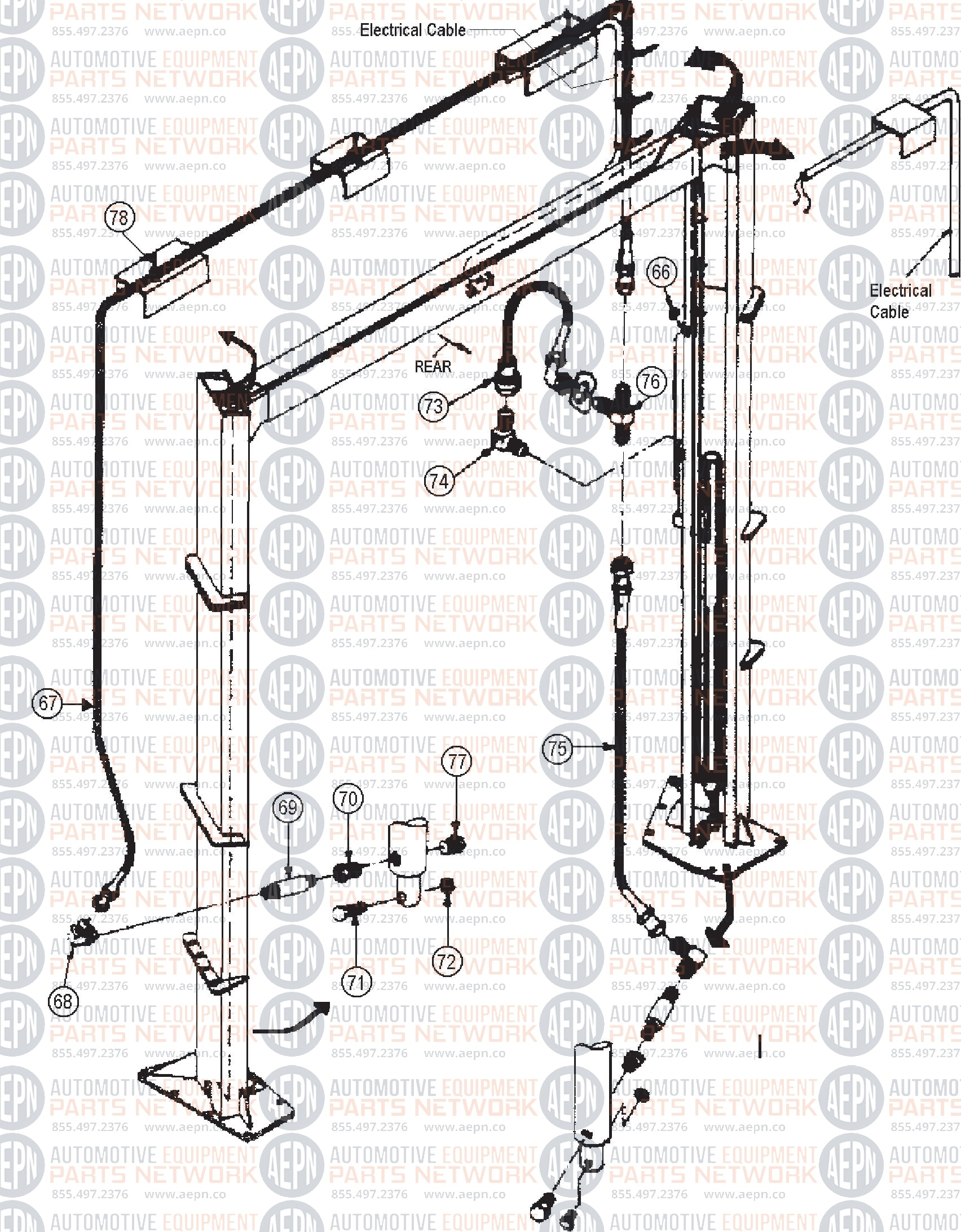 Ammco Ben Pearson Al 7 Old Style Parts Breakdown Chassis Engineering Schematics Click On The Part Number For More Information